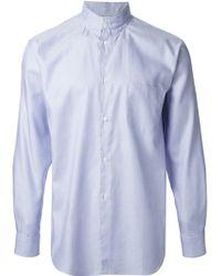 Comme Des Garçons Fake Stitched Collar Shirt - Lyst