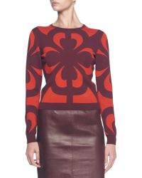 Alexander McQueen Graphic Jacquard Knit Top - Lyst
