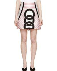 Versace Pink Printed Skirt - Lyst