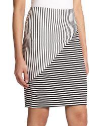 Rebecca Minkoff Jill Mixed-Stripe Pencil Skirt - Lyst