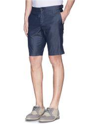 Façonnable - Chambray Bermuda Shorts - Lyst