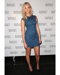 Badgley Mischka Belle Adorned Collar Pencil Dress - Lyst