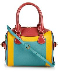 Burberry Prorsum | Mini Bee Colour-Block Leather Cross-Body Bag | Lyst