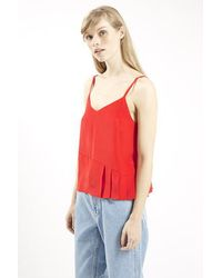 Topshop Silk Pleated Cami By Boutique - Lyst