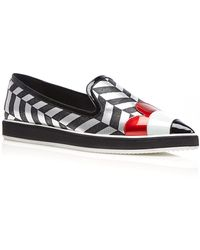 Nicholas Kirkwood Silver And Black Polly Petal Alona Loafer - Lyst