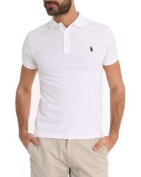 Polo Ralph Lauren White Stretch Slim-Fit Polo - Lyst