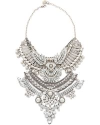 Laura Cantu - Lana Necklace - Silver/Clear - Lyst
