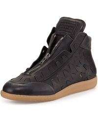 Maison Margiela New Future Cut-Out Detail High-Top Sneakers - Lyst
