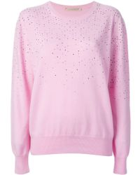 Christopher Kane Embellished Sweatshirt - Lyst