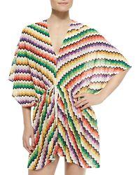 Missoni Honeycomb Zigzag-knit Caftan - Lyst