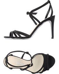 Balmain Sandals black - Lyst