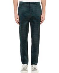 Lanvin Geometric Jacquard Trousers - Lyst