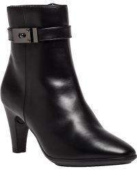 Aquatalia by Marvin K Danele Black Leather Buckle Boot black - Lyst