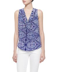 Rebecca Taylor Sleeveless Floral Paisley Top multicolor - Lyst