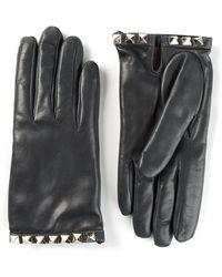 Valentino Blue Rockstud Gloves - Lyst