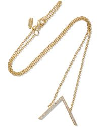Elizabeth and James - Edo Gold-plated Topaz Necklace - Lyst