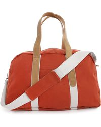 Faguo Cotton And Suede Duffle Bag - Lyst