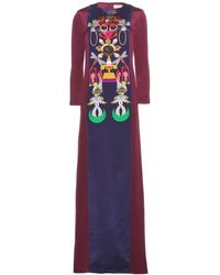 Mary Katrantzou Sentinel Clocktopia Printed Silkcrepe Dress - Lyst