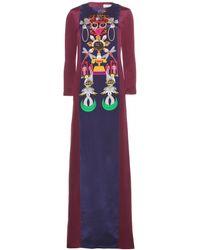 Mary Katrantzou Sentinel Clocktopia Printed Silk-Crepe Dress - Lyst