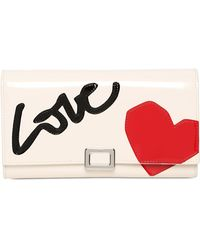 Roger Vivier - Love Patent Leather Wallet - Lyst