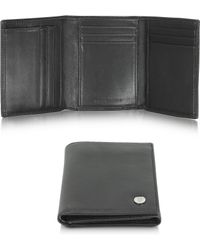 Moreschi - Black Leather Tri-Fold Wallet - Lyst