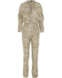Pedro Del Hierro Madrid - Textured Silkblend Lamé Jumpsuit - Lyst
