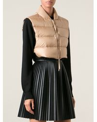 Ermanno Scervino Cropped Padded Gilet - Lyst