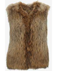 Yves Salomon Collarless Raccoon Fur Vest - Lyst