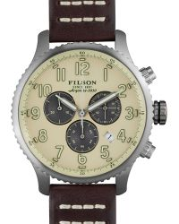 Filson - The Mackinaw Field Chronograph Leather Strap Watch, 43mm - Lyst