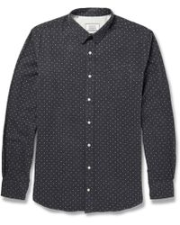 Officine Generale Polkadot Cotton Shirt - Lyst