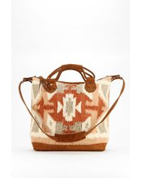Stela 9 - Sophia Leather Blanket Tote Bag - Lyst