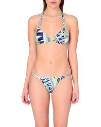 Emilio Pucci Abstract-Print Halterneck Bikini Set - Lyst