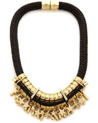 Holst + Lee - Holst + Lee Star Gazer Necklace - Black/Gold - Lyst