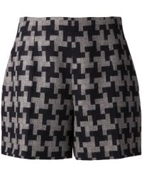 Carven Tweed Shorts - Lyst