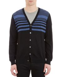 Barneys New York Mixedstripe Cardigan - Lyst