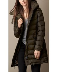 Burberry Check-lined Down-filled Coat - Lyst