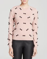 Alice + Olivia Sweater - Allover Bow - Lyst