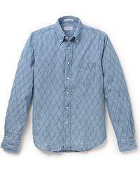 Gant Rugger Diamond Chambray Shirt - Lyst