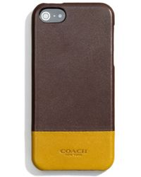 Coach Bleecker Molded Iphone 5 Case In Colorblock Leather - Lyst
