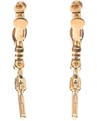 Saint Laurent Gun Drop Earrings - Lyst
