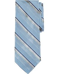 Brooks Brothers Satin Split Stripe Tie - Lyst