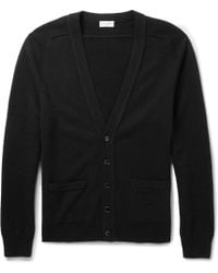 Saint Laurent Black Cashmere Cardigan - Lyst