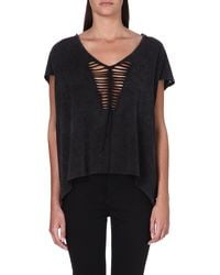 Free People Too Cool For School Top Black - Lyst
