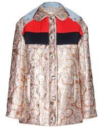 Miu Miu Metallic Jacquard Jacket - Lyst