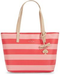 Kate Spade Small Ryan Two-Tone Striped Tote gold - Lyst