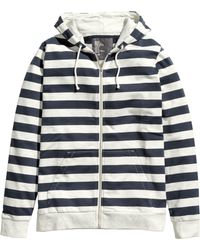 H&M Hooded Jacket blue - Lyst
