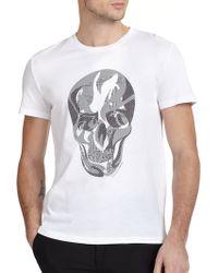 Alexander McQueen Skull Print Cotton Tee - Lyst