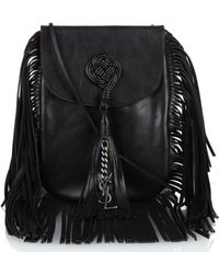 Saint Laurent - Anita Fringed Leather Shoulder Bag - Lyst