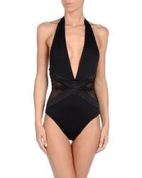 La Perla Black Onepiece Suit - Lyst