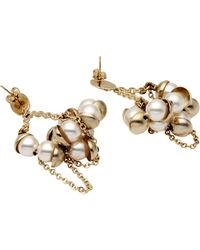 Dior Earrings gold - Lyst
